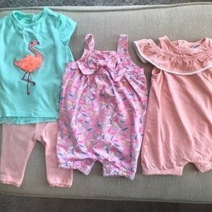 three new without tags baby girl outfits